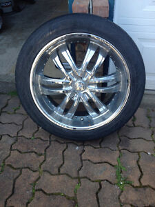 "4 Zinik 20"" chrome rims and tires - $600"