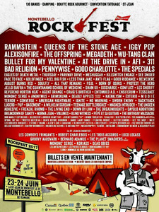 2 VIP Rockfest Montebello tickets + camping package