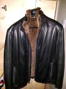Leather Jacket  with rabbit fur
