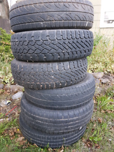 6 tires size 175/70/r14. $65 for all 6