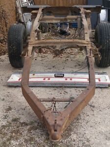 Home Made Trailer Frame with axel