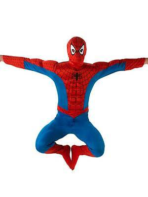 Adult Marvel Deluxe Muscle Chest Spiderman Outfit Fancy Dress Costume Superhero