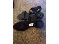 Brand new black ladies sandals