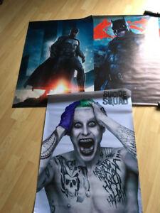 batman vinyl  27x40 joker vinyl banner 27x40,justice league etc