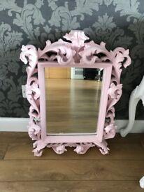 Pink Rococo Mirror