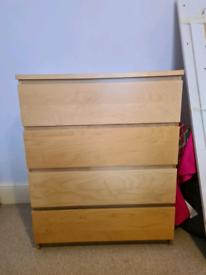 Malm cupboard wardrobe ikea 4 drawer