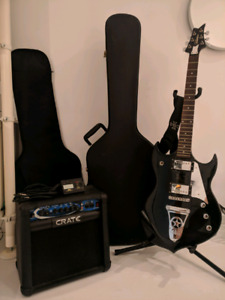 Silvertone Paul Stanley Sovereign Special + Amp, Tuner & Extras