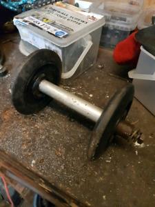 skidoo axle,  wheels