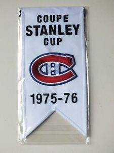 CENTENNIAL STANLEY CUP 1975-76 BANNER MONTREAL CANADIENS HABS