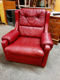 Retro 70's Leather Armchair Good Condition Delivery Available nationwi