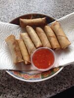 Fresh home made spring rolls