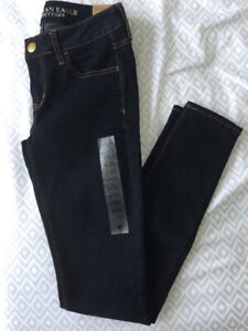American Eagle Blue Hi-Rise Jegging Super Stretch-Brand New!