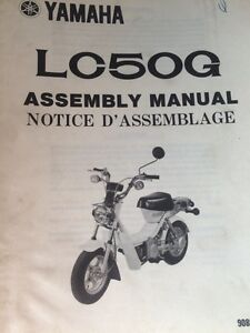 1980 Yamaha LC50G Manuals Assembly and Service