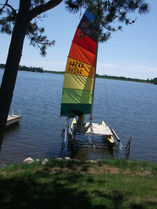 Hobie Cat 16 and aluminum boat lift