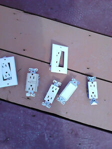 Assortment of receptacle plugs and covers