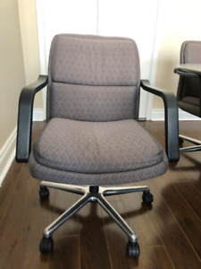 6 swivel rolling arm chairs  -  All 6 for 150.00