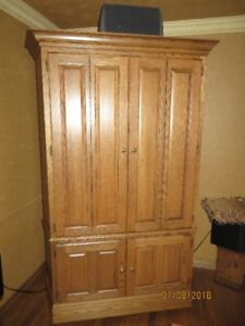 Oak Cabinet for Stereo System