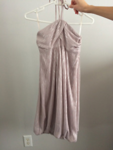 Beautiful pale pink & silver dress (sz XS) - NEW WITH TAGS!