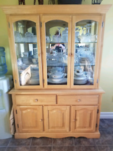 Table, chairs, buffet and hutch