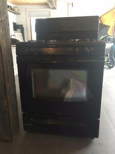 Frigidaire Black 4 burner gas stove and oven