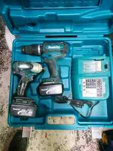 Makita LXT 18v hammer drill and impact driver