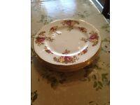 Six china plates