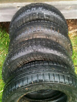 """4 winter tires 14"""" for $25.00  Tread is very good and the tires"""