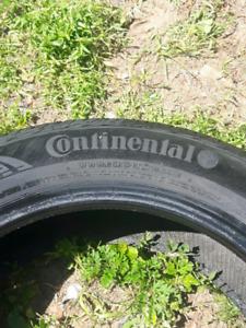 2x pneu d'ete continental contiprocontact 215 55 17