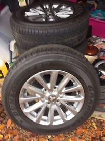 "Mitsubishi Barbarian 17"" Alloy wheels and tyres"