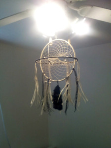 two ring black and white dream catcher