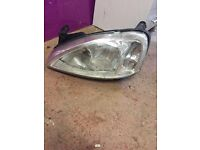 Vauxhall combo near side front headlight 2006 plus
