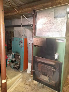 Open to offers.  Scotsman Forced Air Wood Furnace