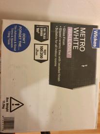 Metro white wall tiles , pvc essentials tiletrim etc