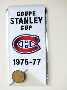 CENTENNIAL STANLEY CUP 1976-77 BANNER MONTREAL CANADIENS HABS Gatineau Ottawa / Gatineau Area image 2