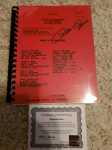 Autographed Pete Rose copy of the commissioner's report
