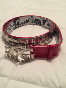 GUESS Red Studded Woman's Belt