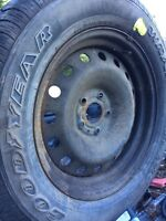 """1 rim and tire off a 07 dodge ram 20"""""""