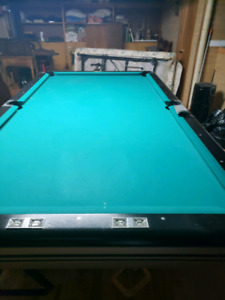 selling pool table + plus wooden glass furniture