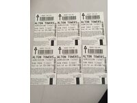 Alton tower tickets for 05/08/16