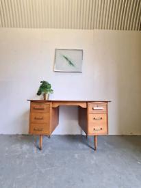 Vintage 1950's Oak Mid Century Desk