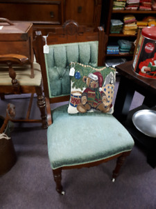 pair of small eastlake chairs