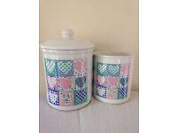 2x tabletops unlimited sweet heart storage jar