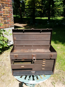 Old tool chest with drawers