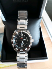 Seiko 5 sports automatic divers watch ex condition men's