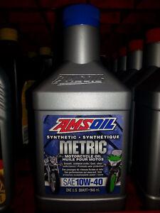 Huile syn pour moto Amsoil 10W-40/Syn Amsoil Oil 10W-40