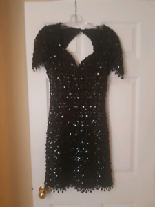 Black sequence dress - medium