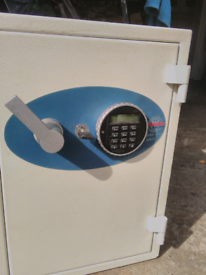 Safe cream coloured as new key or keyboard locking