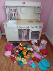 Girls kitchen with loads of accessories