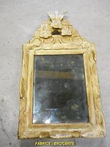 Petit miroir ancien ebay for Petit miroir sur pied ancien