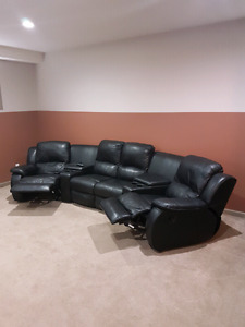 5 pieces  movie theater coach (real soft leather)